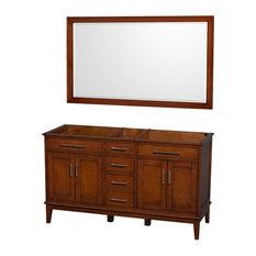 Eco-Friendly Double Bathroom Vanity with Matching Mirror