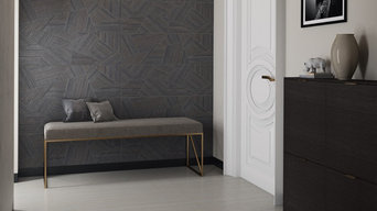 Clery grey textile wall tiles