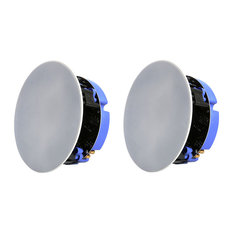 Lithe Audio 16.5 cm 2-Way Passive Slave IP44 Bathroom Ceiling Speakers, Set of 2