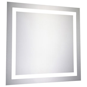 """LED Hardwired Mirror Square W28"""" H28"""" Dimmable 5000K"""