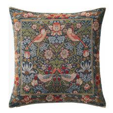 """European Wall Art - Cushion Birds Face To Face European Cushion, Wall Tapestry, 14""""x14"""" - Decorative Pillows"""