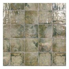 "Angela Harris 8""x8""  Polished Ceramic Wall Tile, 25 pcs/10.76 sqft/box, Gree"