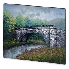 """Bridge Rock"" Hand Painted Art On Canvas"