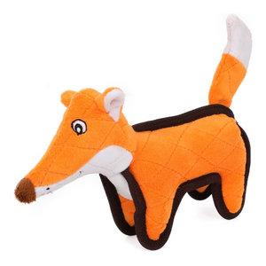 Foxy-Tail Quilted Plush Animal Squeak Chew Tug Dog Toy, Orange