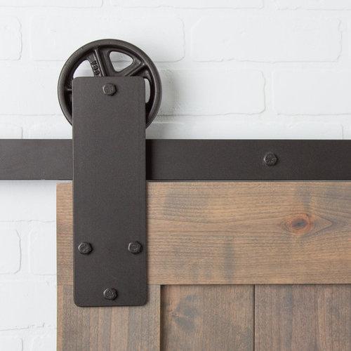 Aspen Flat Track Hardware Kit In Oil Rubbed Bronze Barn Door