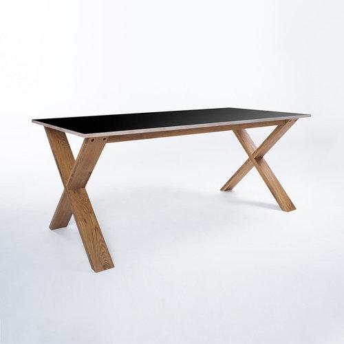 Arc Bord 180 cm, Svart/Ek - Spiseborde