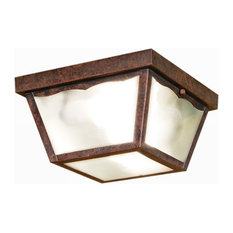 Elba C2 Steel and Bevelled Glass Ceiling Lamp