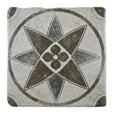 SomerTile Costa Cendra Decor Encaustic Ceramic Floor and Wall Tile, Starflower