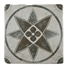 """SomerTile 7.75""""x7.75"""" Costa Cendra Decor Floor/Wall Tile, Case of 25, Lily"""