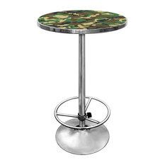 Hunt Camo Chrome Pub Table