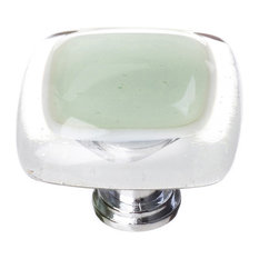 Reflective Spruce Green Knob, Satin Nickel Base