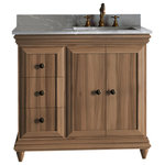 """Ronbow Corporation - Ronbow 48"""" Genova Vanity, Sable Elm, Doors on Right - The luxurious Genova collection reimagines classical Italianate beauty for the modern home. Available in a number of rich finishes, the Genova vanity is rife with sumptuous details. Smooth cornices run along the base and top, while the faces of the body feature beveled edges, recessed paneling, and contrasting wood grain. Graceful yet solid cone feet complement the Genova's majestic silhouette, which all together pays a subtle but confident homage to the classical past. Indulge in the timeless beauty of the Genova collection for a contemporary twist on a classic design."""