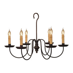 Wilcox Wrought Iron Chandelier by Katie's, Black