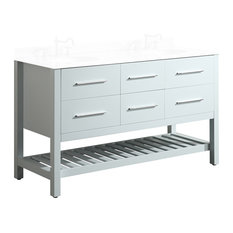 "59"" Bosconi Main Cabinet White"
