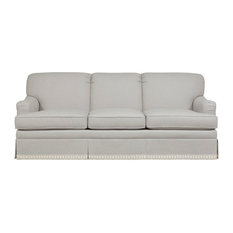 Incroyable Duralee Furniture   Stratford Tight Back Sofa With Skirt, Dove   Sofas
