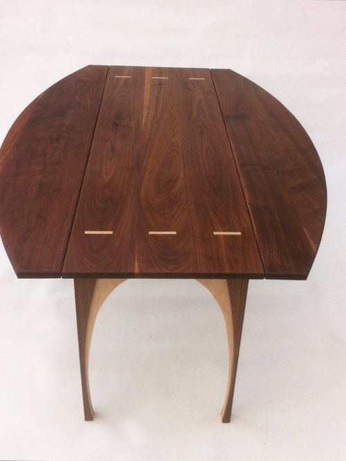 Foyer Console Game : Drop leaf hall console game table solid walnut quot x
