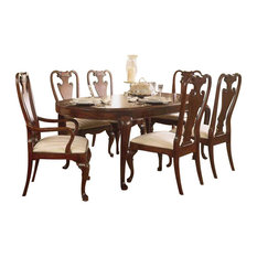 American Drew - Cherry Grove 8-Piece Oval Leg Dining Table Set in Brown Finish - Dining Sets
