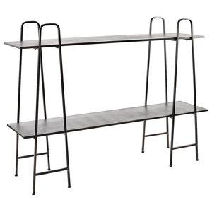 Grey Iron 2-Shelf Storage Unit