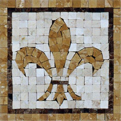 Fleur-De-Lis Mosaic Insert - Mosaic Tile