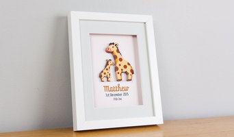 Framed & Personalised 3D nursery art