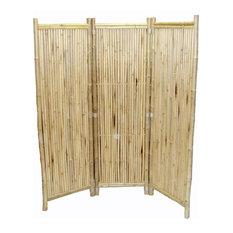 Bamboo 3 Panel Screen Small Round Sticks