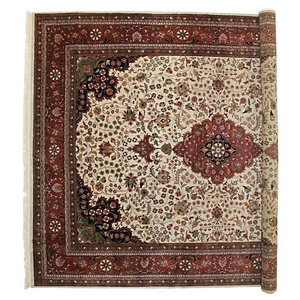Indo Tabriz Royal Rug, India Hand-Knotted, 401x305 cm