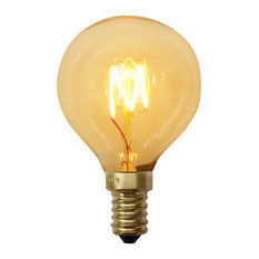 Small Squirrel Cage 40 Watt Edison Bulb, E12 Base, Set of 3