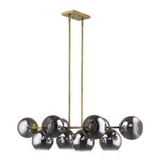 Lunette 10-Light Aged Brass Island Pendant