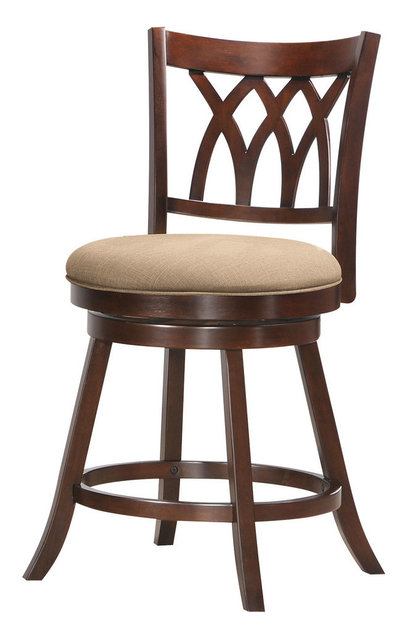 Tabib Counter Chair With Swivel Espresso Transitional
