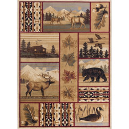 Rustic Area Rugs by Tayse Rugs