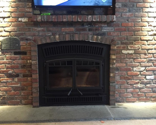 Ventis HE350 Zero Clearance Wood Fireplace with Brick Facing