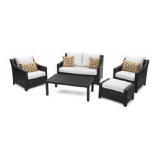 Deco 5-Piece Outdoor Love and Club Seating Set by RST Brands, Moroccan Cream
