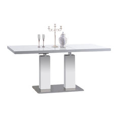 Expandable White Dining Table