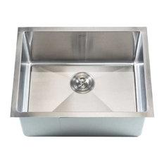 "Stainless Steel Undermount Single Bowl Bar Sink, Brushed Satin Finish, 23"""