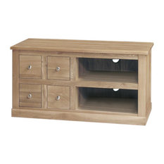 4 Drawer Mobel Contemporary Oak Television Cabinet