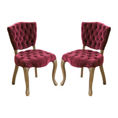 gdfstudio violetta dining chairs set of 2 purple dining chairs