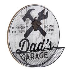 Dad's Garage Bottle Opener and Cap Catcher