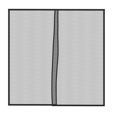 "Pure Garden - Pure Garden One Car Garage Screen Curtain Black 114""es x 90""es - Garage Doors and Openers"