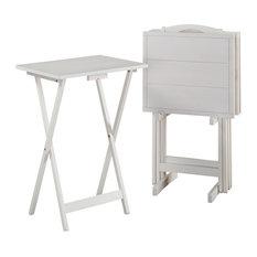 Lisbon Tray Tables, White