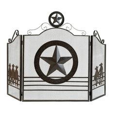 Koehlerhomedecor Lone Star Fireplace Screen
