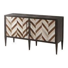 Modern Herringbone Cabinet