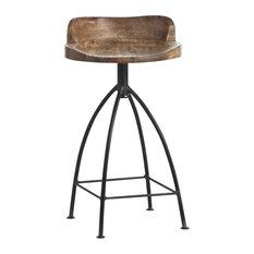 Missoula Loft Antique Wood Iron Swivel Counter Stool Bar Stools And
