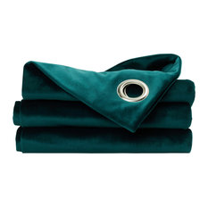 London Polyester Curtain, Blue-Green