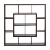 Furniture of America Aydan Modern Square Bookcase, Walnut