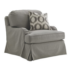 Stowe Slipcover Chair, Gray