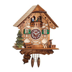 Natural Wood Engstler Clock With Music and Chimes