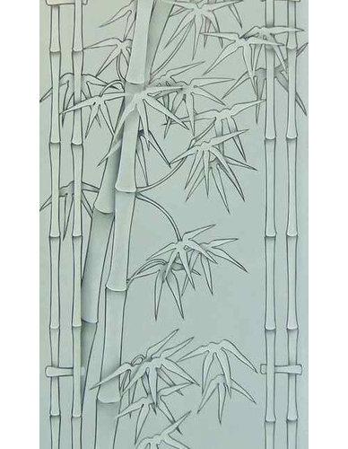 Glass Door Bamboo Shoots Design