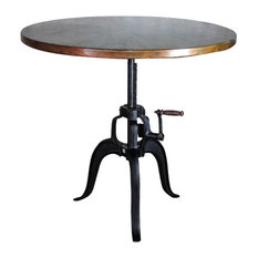 Edison Crank Copper Bistro Table, Weathered Penny, 38""