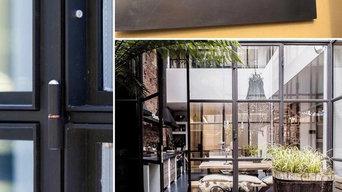 Veranda esterna in ferro su misura