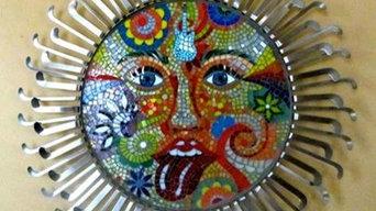 mosaic art suns